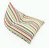 Бескаркасное Кресло Tetra Stripes (Кресло — мешок), Кресло для пляжа, Пляжная мебель