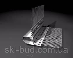 Профиль деформационный плоский V-образный со стеклосеткой Vertex