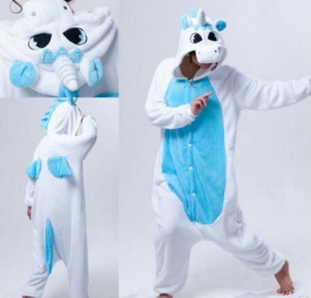 Кигуруми Бело-Голубой Единорог с крыльями 34b674f419eb1