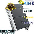 Altek АKSG-15K-DM солнечный сетевой инвертор (15,0 кВт, 3 фазы, 2 MPPT)