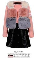 Набор 2 в 1 утепленный для девочек оптом, Glo-story, 110-160 см,  № GLT-7497, фото 1