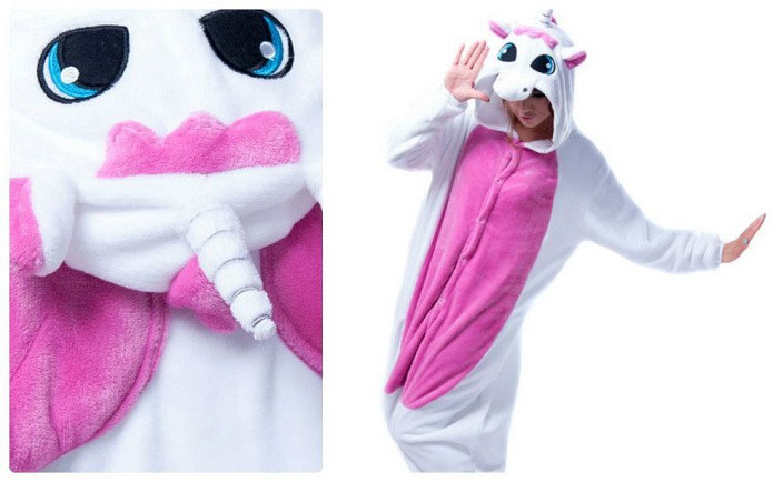 Кигуруми  Бело-розовый Единорог с крыльями