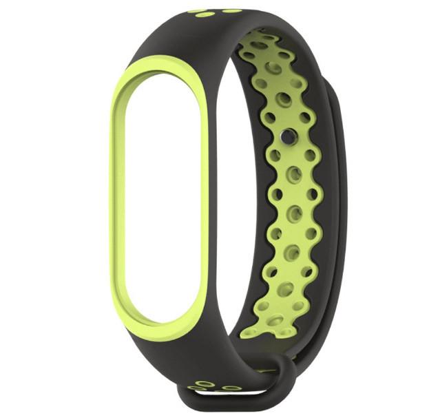 Силиконовый ремешок Primo Perfor Sport для фитнес-браслета Xiaomi Mi Band 3 - Black&Green