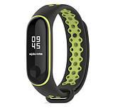 Силиконовый ремешок Primo Perfor Sport для фитнес-браслета Xiaomi Mi Band 3 - Black&Green, фото 2