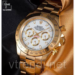 Часы в стиле Rolex Daytona gold ( white )