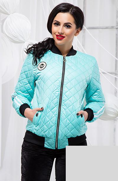 Демисезонная стеганая куртка с лампасами 819039