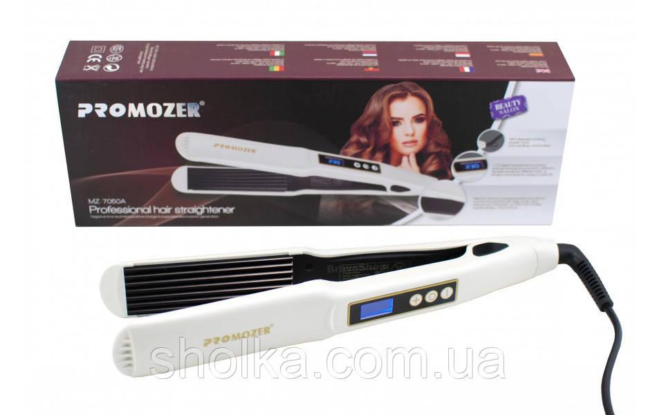 Профессиональный Утюжок гофре с регулятором температуры для волос Pro Mozer MZ 7050