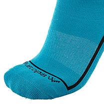 Футбольные гетры Europaw бирюзовые с трикотажным носком, фото 2