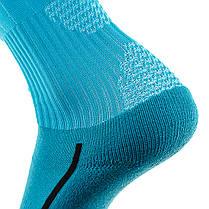 Футбольные гетры Europaw бирюзовые с трикотажным носком, фото 3