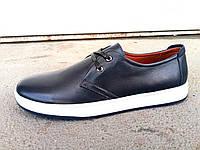 Туфли спортивные мужские кожаные синие 40 -45 р-р, фото 1
