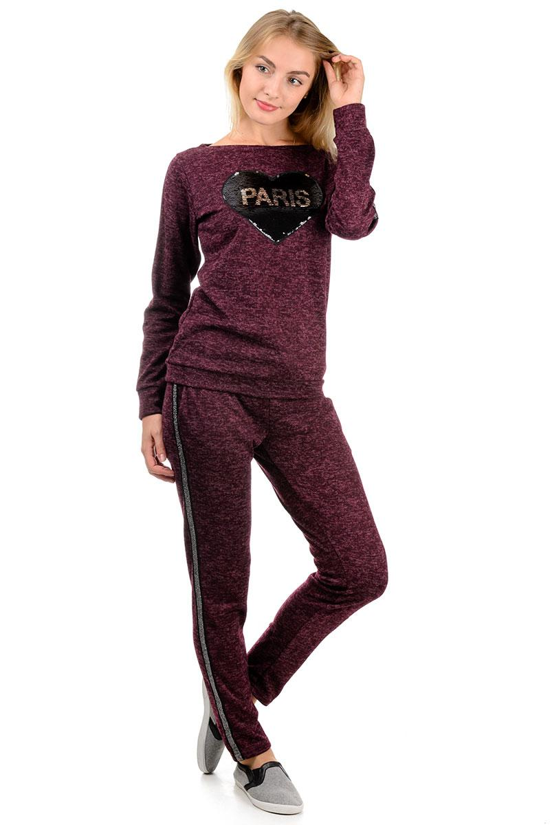 Спортивный костюм «PARIS» бордо