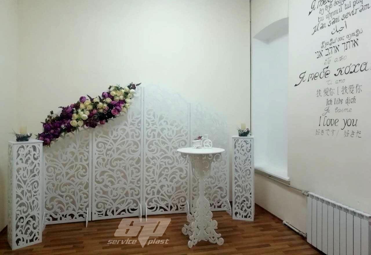 """Ажурные свадебные колоны, тумбы, подставки серии """"Лиана"""""""