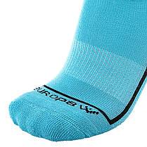 Футбольные гетры Europaw голубые с трикотажным носком, фото 2