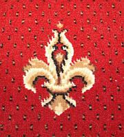 Ковролин Grosso 777-210 красные пики (Гроссо)