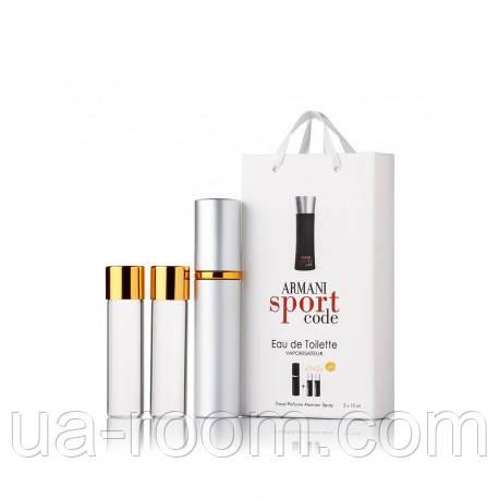 Мини-парфюм мужской Giorgio Armani Armani Code Sport, 3х15 мл, фото 2