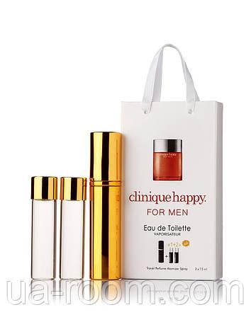Мини-парфюм мужской Clinique Happy for men, 3х15 мл, фото 2
