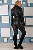 Женская  куртка-косуха из качественной эко-кожи, размеры 42, 44,46,48, фото 2