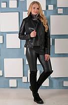 Женская  куртка-косуха из качественной эко-кожи, размеры 42, 44,46,48, фото 3