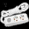 Удлинитель на 2 гнезда с заземлением и выключателем 3м Multi-Let (90118203)