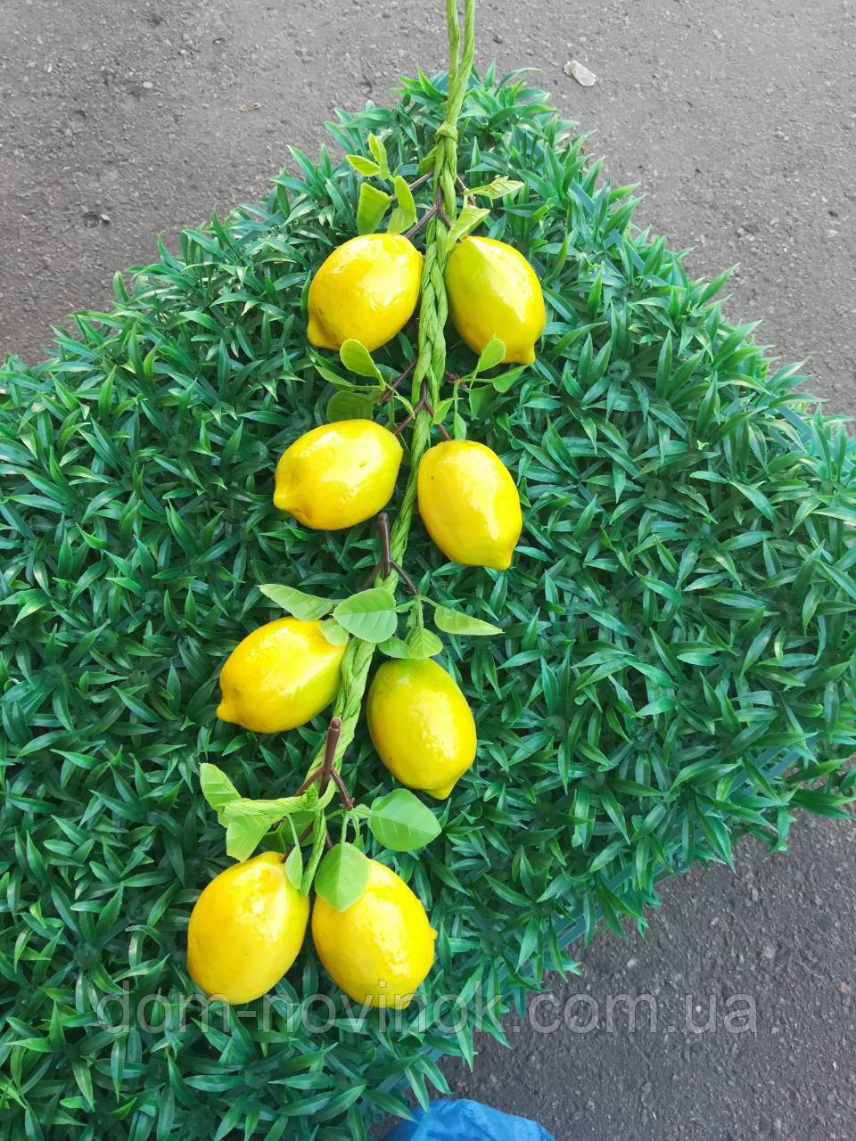 Лимон*6 шт. ветка искуственная