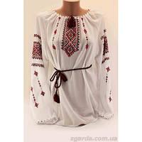 Женская шифоновая вышиванка с декором из ниток с кистями 4e41e7ef30691