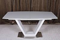 Стол обеденный DETROIT  (Детройт) 160/220 белый от Niсolas, сатин (бесплатная доставка)