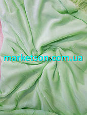 Покрывало плед травка 160х200 бамбуковое меховое пушистое с длинным ворсом Полуторное Зеленое яблоко, фото 2