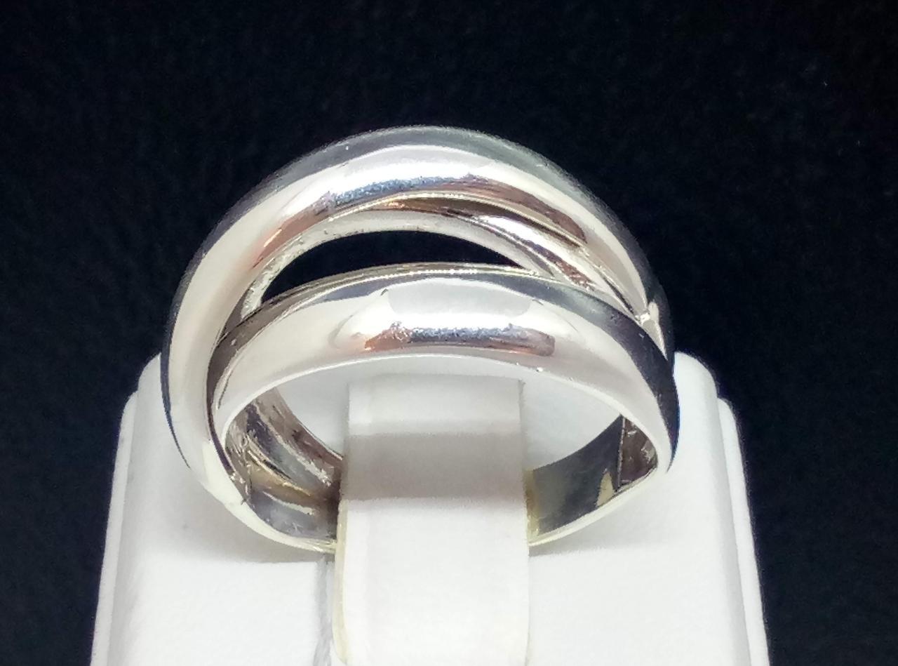Серебряное кольцо с фианитами. Артикул КБ324С 18,5