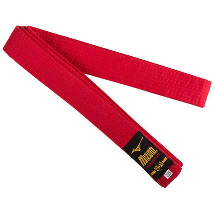 Пояс кимоно Mizuno красный NP-270R, фото 2