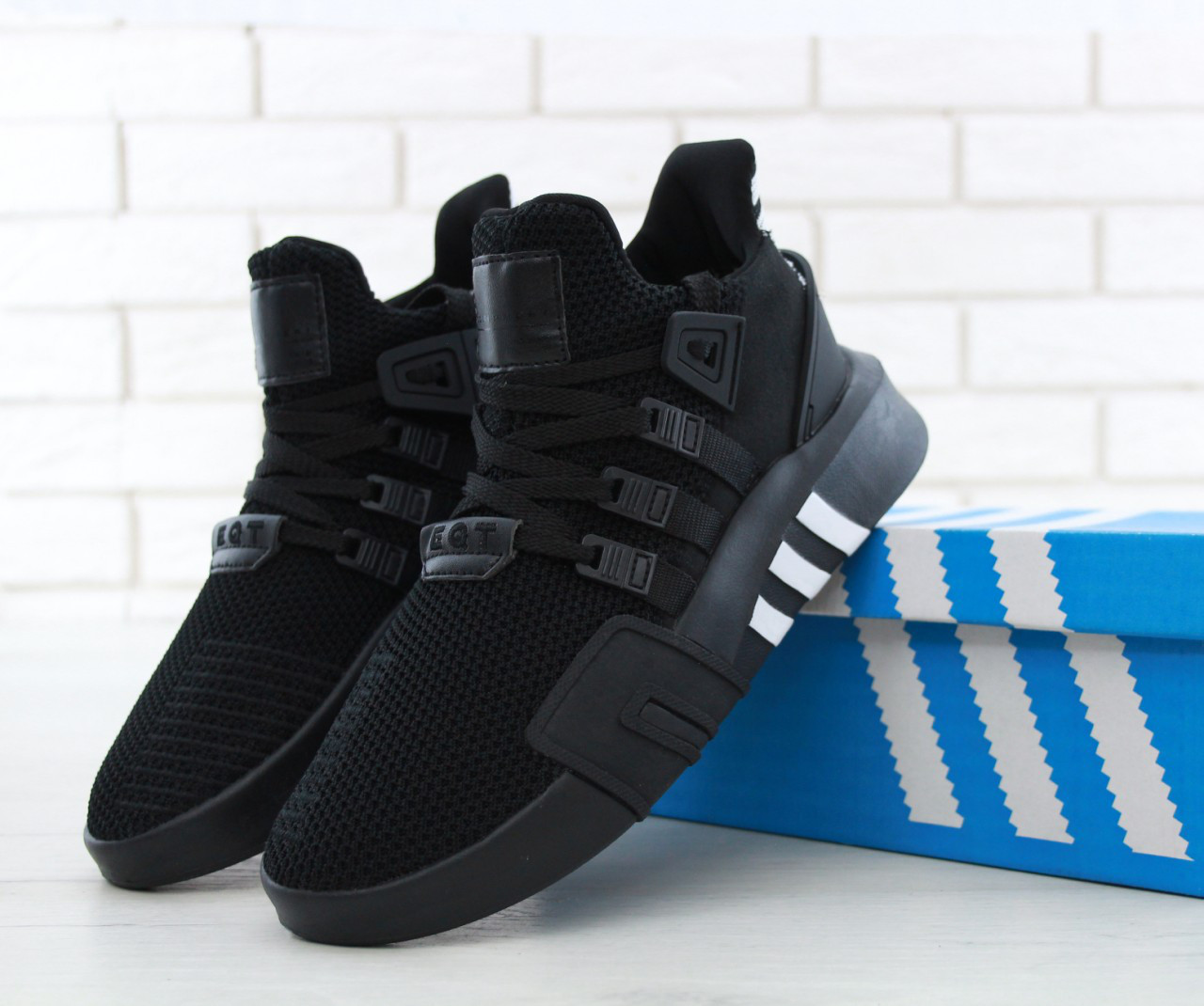 b9f0f9916 Мужские кроссовки Adidas EQT ADV Racing Black/White/Black/ адидас / реплика  -