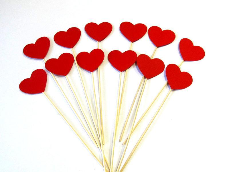 Фотобутафория Bonita Сердечки красные 12 предметов