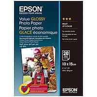 Фотобумага Epson Value Glossy Photo Paper Глянцевая  183г/м кв, 10х15см , 20л (C13S400037)