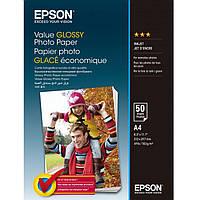 Фотобумага Epson Value Glossy Глянцевая 183г/м кв, А4, 50л (C13S400036)