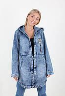 Женский джинсовый кардиган с капюшоном , фото 1