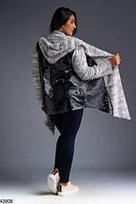 Новинка! Кардиган женский с капюшоном размеры: 48-50, 52-54, 56,58-60,62, фото 2