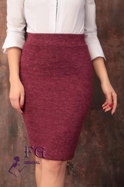 Женская юбка теплая из ангоры