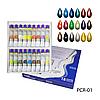 Перламутровые акриловые краски Lady Victory PCR-01 , 12 мл ( Набор 18 шт)