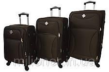 Чемодан на 4 колесах Bonro Tourist (небольшой) коричневый, фото 3