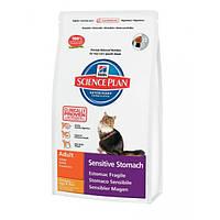 Hill's Feline Adult Sensitive Stomach чувствительное пищеварение -  5кг