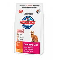Hill's Feline Adult Sensitive Skin чувствительная кожа -  5кг
