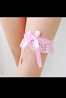 Розовая подвязка на ногу С-126
