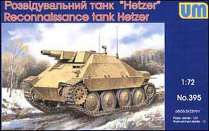 Hetzer WWII German reconnaissance tank. 1/72 UM 395