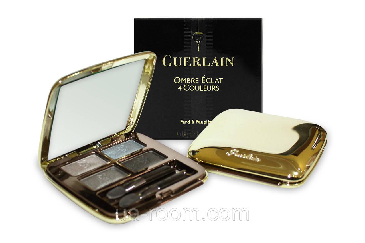 Тени для век Guerlain omber eclat 4 coloures (золотистая коробка)