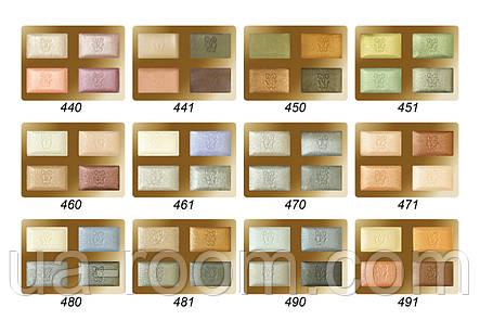 Тени для век Guerlain omber eclat 4 coloures (золотистая коробка), фото 2