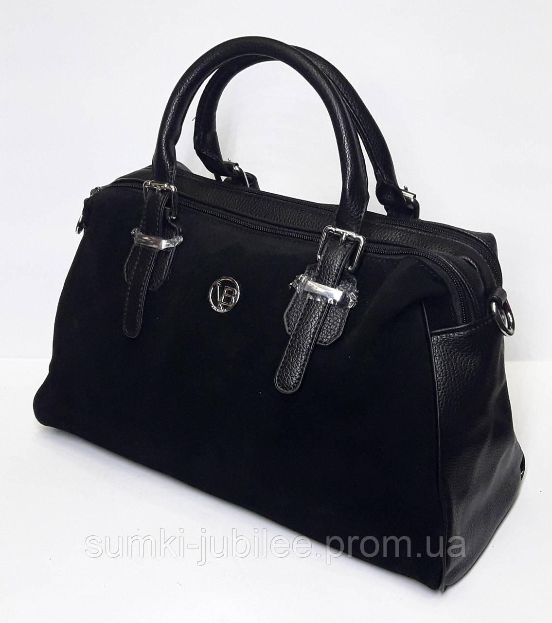 e6f73f223ec0 Женская замшевая сумка-саквояж Baliviya, черный: продажа, цена в ...
