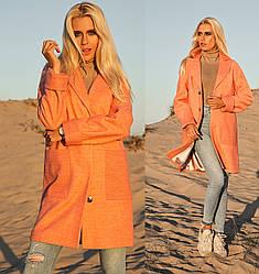 Оверсайз пальто меланж женское демисезонное осеннее (oversize)