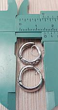 Серебряные женские серьги с цирконами и родиевым покрытием, фото 3