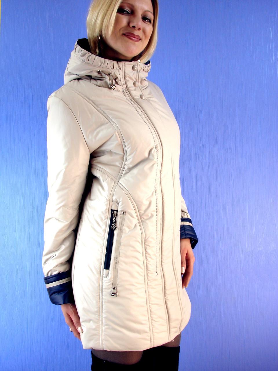 """Куртка женская весенняя длинная Salavina 201 (48-60) Deify, Symonder, Peercat, Decently, Covily, Mishele - Интернет-магазин """"Deify"""" в Хмельницком"""