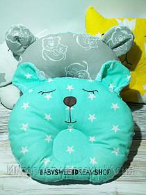 Детская ортопедическая подушка-бабочка Мишка
