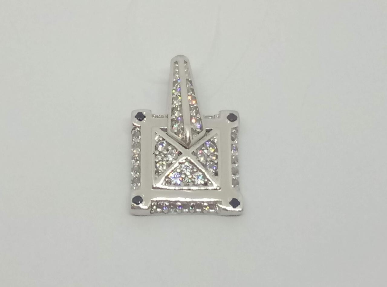 Серебряная подвеска с фианитами. Артикул 903-00243